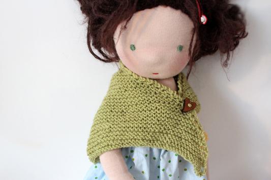 Shawl Schultertuch für Waldorf Puppe stricken