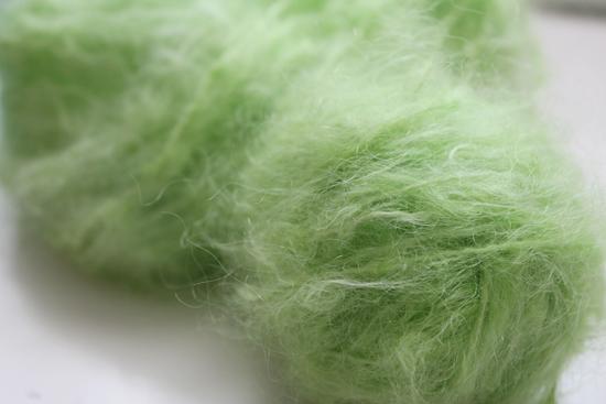 Mohair Wolle naturweiss gefärbt mit Kool-Aid