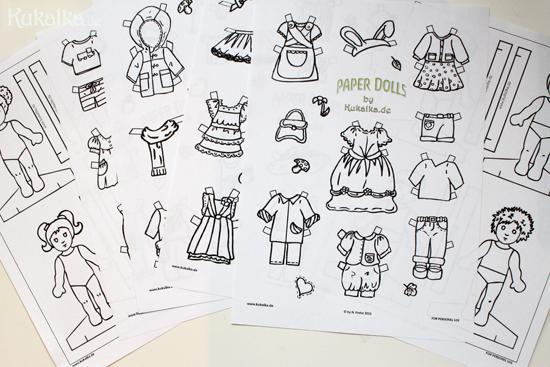 Papierpuppen, Paper Dolls, Waldorf, Papier Puppe, Anziehpuppe, Kukalka, Cutout, Mandlbogen