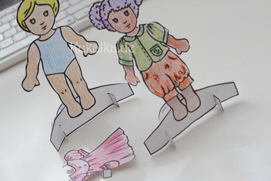Papierpuppen, Paper Dolls Waldorf Papier Puppe Anziehpuppe Kukalka Cutout