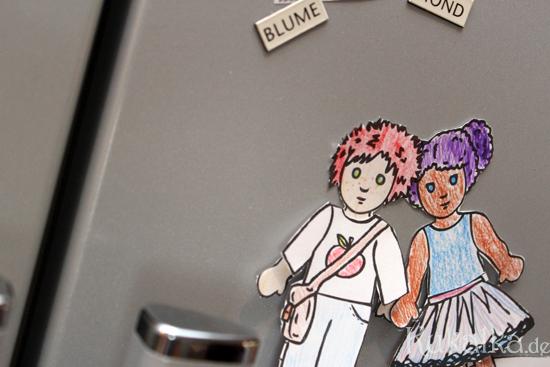 Paper Dolls, Waldorf, Papier Puppe, Anziehpuppe, Kukalka, Dolls, Diy, Cutout, magnet, fridge