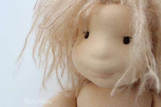 Filzkopf Waldorf Puppe needel felted face