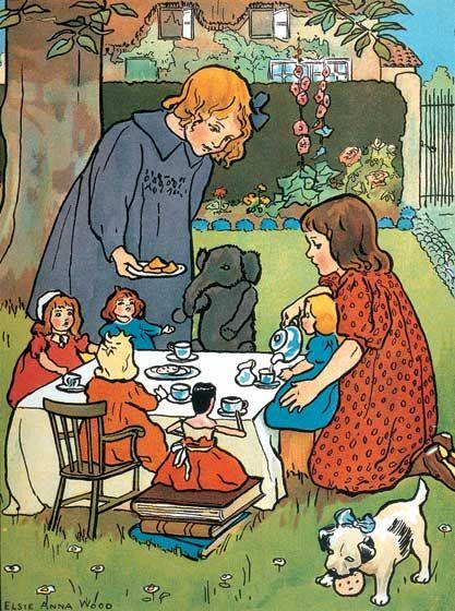 Spiel mit Puppen Rollenspiel by Elsie Anna Wood