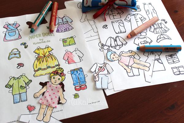 Anziehpuppen Papier Puppen